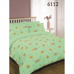Детское постельное белье 6112 Зеленое Ранфорс ВИЛЮТА