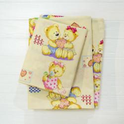 Детское постельное белье 4457 Ранфорс желтое ВИЛЮТА