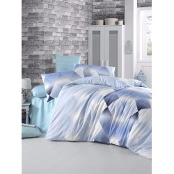 Постельное белье ранфорс Petek голубой ELENA
