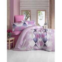 Постельное белье ранфорс Petek розовый ELENA