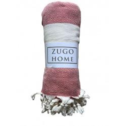 Покрывало пештемаль Zugo Home Cizgili красный Zugo Home