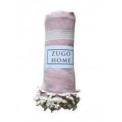 Покрывало пештемаль Zugo Home Elmas розовый Zugo Home