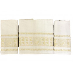 Набор махровых полотенец Версаче кремовый Gold Soft Life