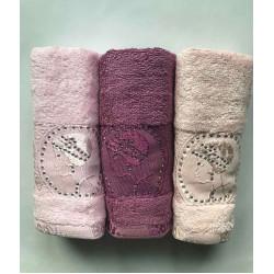 Набор Bamboo Lady темно розовый-фиолетовый-персиковый Sikel