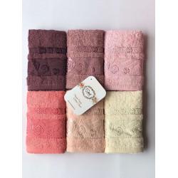 Набор махровых полотенец Cotton Rose Garden Sikel