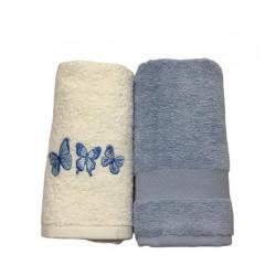 Набор кухонных полотенец голубой Casabel