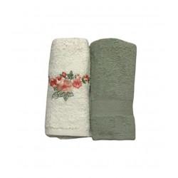 Набор кухонных полотенец зеленый Casabel