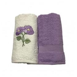 Набор кухонных полотенец лиловый Casabel
