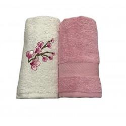 Набор кухонных полотенец розовый Casabel
