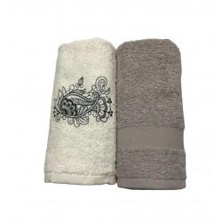 Набор кухонных полотенец серый Casabel