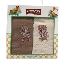 Набор вафельных полотенец Mercan Domuz Naughty Pigs MELIH
