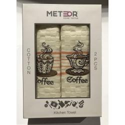 Набор кухонных полотенец Meteor Coffee V01 MELIH