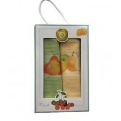 Набор кухонных полотенец 3D Fruit NILTEKS