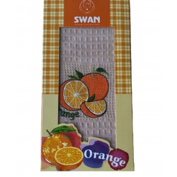 Кухонное полотенце Swan вафельное Orange персиковый NILTEKS