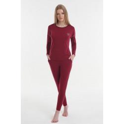 Женская пижама Y2019AW0127 бордовый Yoors Star