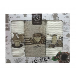Набор кухонных полотенец Lux Coffee V01 NILTEKS
