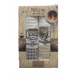 Набор кухонных полотенец Quality Series Coffee V02 NILTEKS