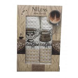 Набор кухонных полотенец Quality Series Coffee V03 NILTEKS