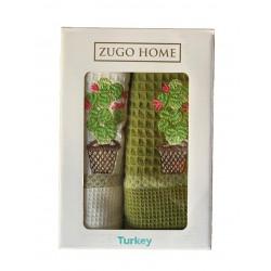 Набор кухонных полотенец Curly Cactus V1 Zugo Home