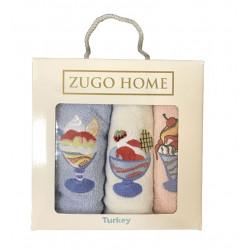 Набор кухонных полотенец Десерт V2 Zugo Home