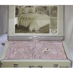 Покрывало с наволочками Marie розовое Kubra Class