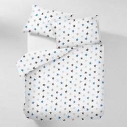 Постельное белье на резинке Бязь Стартек ассорти голубое
