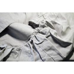 Простынь на резинке ЛЕН Серый 50х50